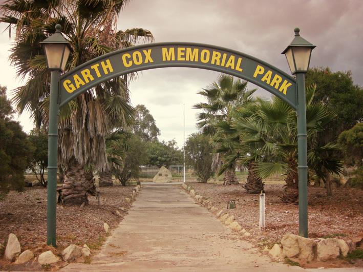 Garth Cox Memorial Park entrance
