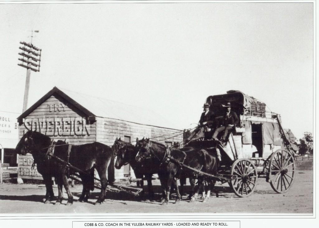 Cobb and Co Coach Yuleba Railway Yards