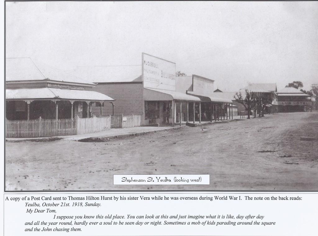 Stephenson Street 1918 Looking West